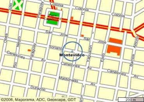 Hotel Lafayette: Map