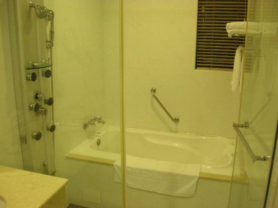 Rich Garden Hotel: Shower Area with Bath Tub