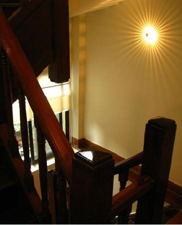 Magnolia Bed & Breakfast Shanghai: wood staircase from 1920s