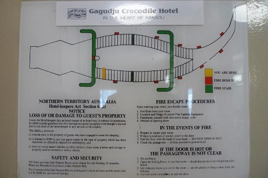 Mercure Kakadu Crocodile Hotel: In case of emergency remember that it´s a crocodile.
