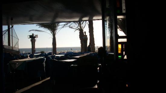 Blick zum Atlantik vom Le Nil Bleu