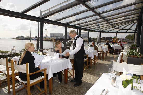Hotel Strandlust Vegesack: Terrasse