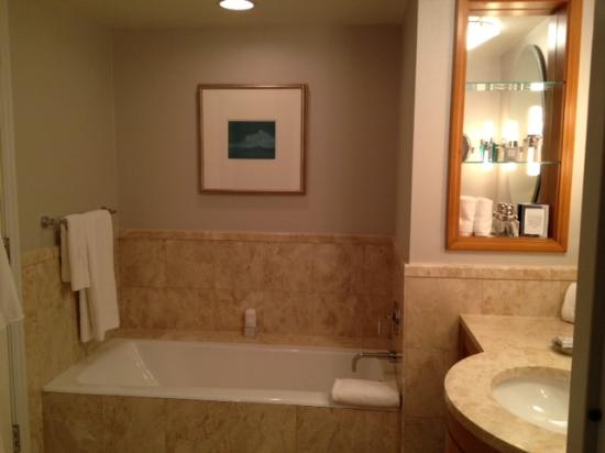 The Ritz-Carlton New York, Battery Park: Picture of the tub in the bathroom, there is also a standing showwer that is seperate not pictur