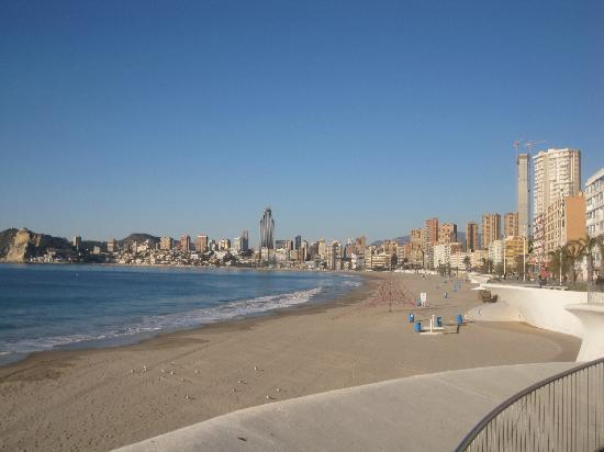 Wonderful sunset over Poniente beach. - Picture of Poniente Beach, Benidorm -...