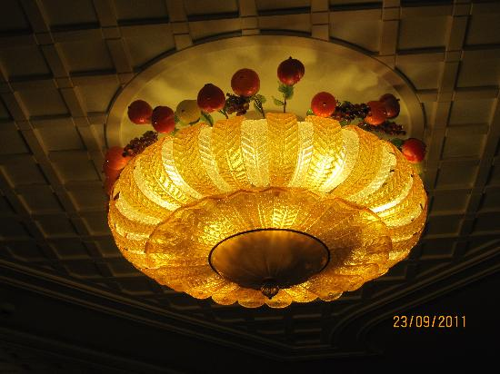 Hotel Eliseo Park's: lampadario ristorante