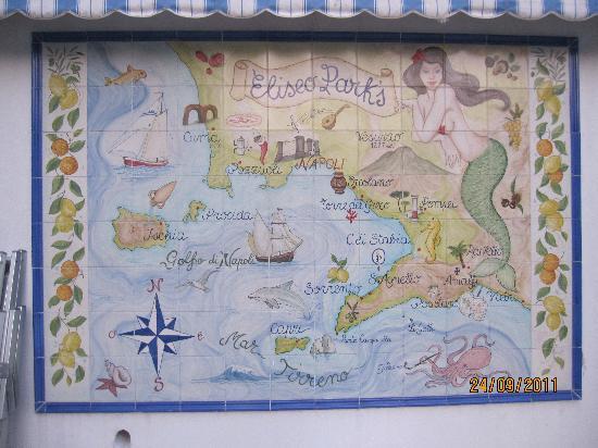 Hotel Eliseo Park's: cartina in maiolica