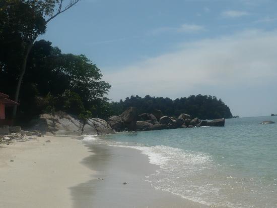 Nipah Bay Villa: coral bay beach