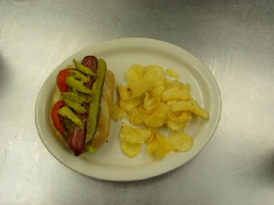 Hopkins Icehouse: Chicago Dog Nathans Brand Hot Dogs