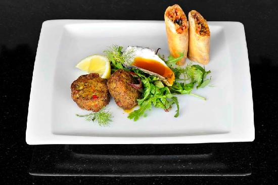 Le Coq Restaurant & Sushi Bar: Fish Cakes with Naartjie soy dipping