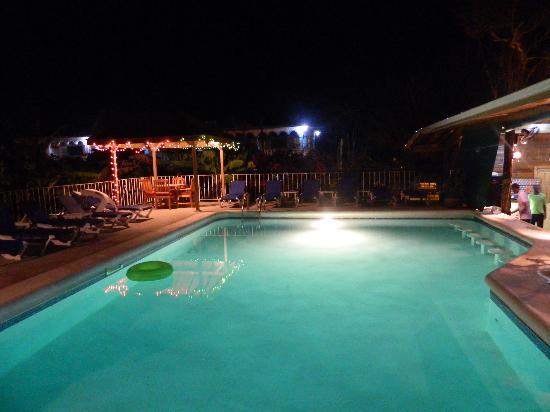 Seastar Inn: The pool at night