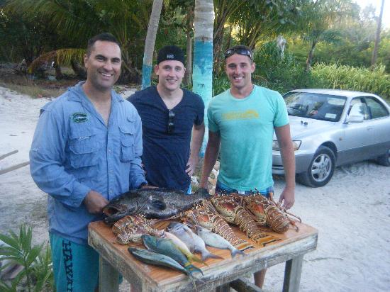 Andros Beach Club: Afternoon spearfishing catch