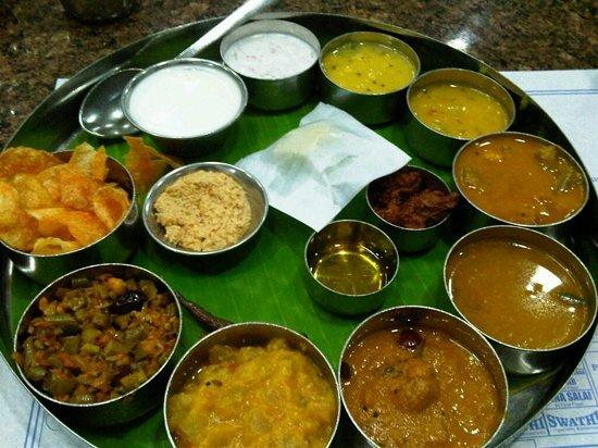 Hotel Saravana Bhavan : Tamil Nadu meal