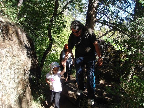 Cascada Escondida: Subiendo el sendero