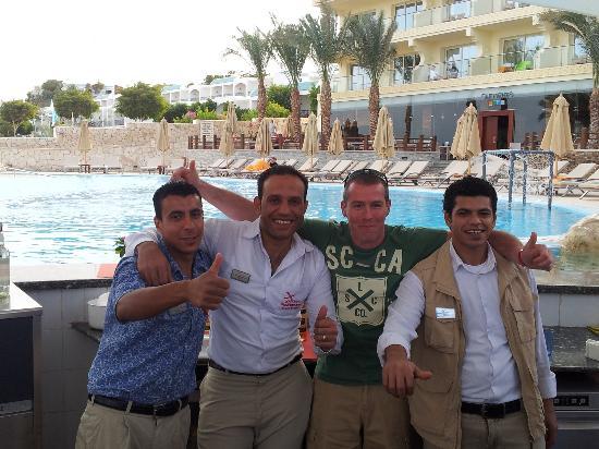 Xperience Sea Breeze Resort: The three best barmen Said, Ali and Adel