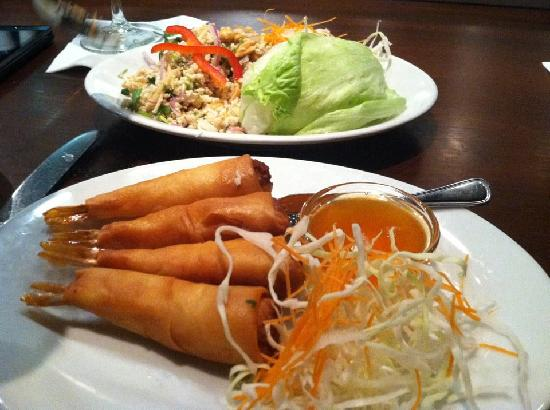 Basil Restaurant: Stuffed Shrimp