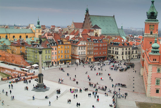 Around Warsaw- city guide: View from the lookout terrace of St. Anne Church