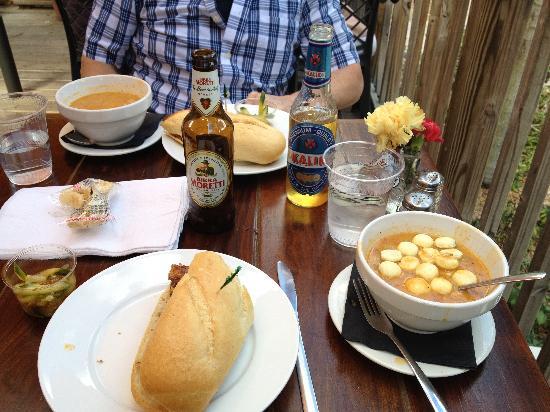 Survey Cafe: half sandwich and gator gumbo