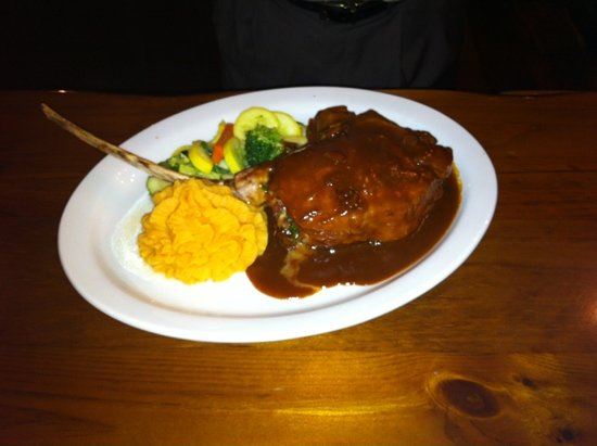 Red Barn: they have the best veal chop