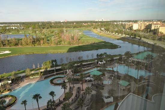 Hilton Orlando Bonnet Creek: View from our room on the 11th floor