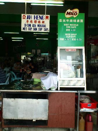 Green Hill Corner Hawker Centre: Beef Noodles, Only open in the morning