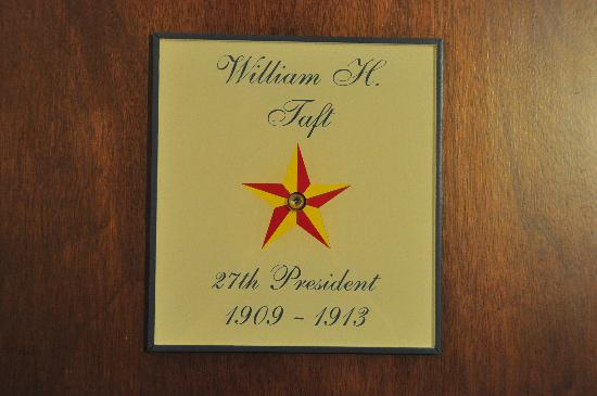 BEST WESTERN White House Inn: Rooms on our wing were named for different Presidents.
