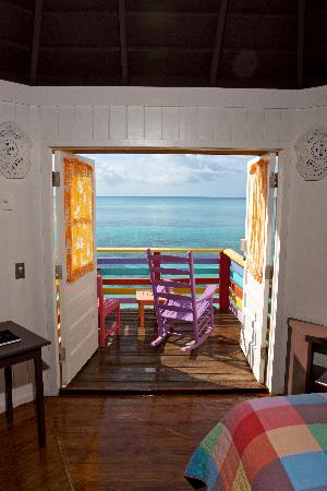 Compass Point Beach Resort: Sea front hut view