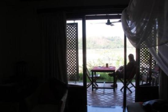 Mekong Estate: Balcony opening out onto the poolside
