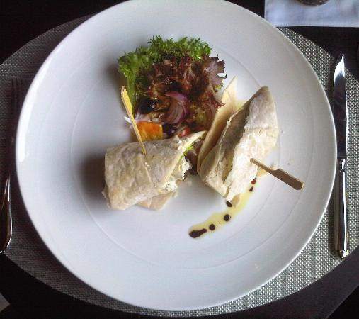 137 Pillars House: shawarma wraped in pitta bread