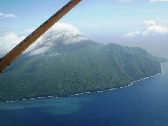 Eratap Beach Resort: バヌアツ・アンブリム島遊覧飛行