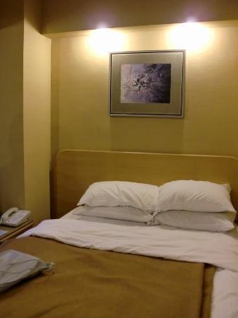 The Imperial Hotel: 決して広くはない部屋ですが、掃除も行きとどき清潔です。