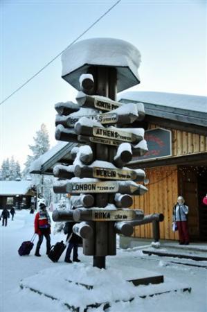Santa Claus Village: Road signs