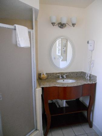Oasis Inn & Suites : le coin toilette