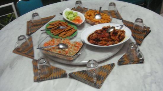 Homestay Heru: A typical meal