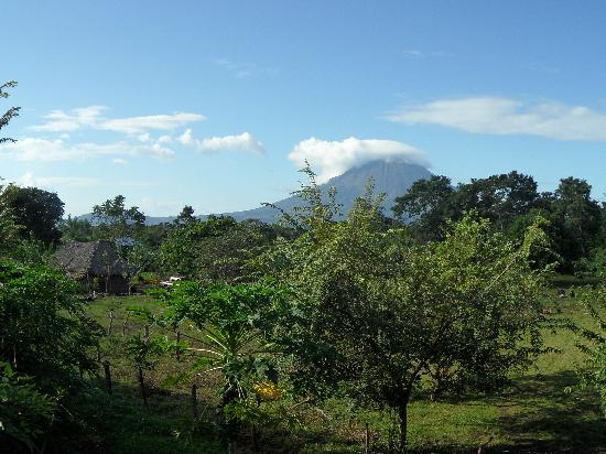 Finca Montania Sagrada: vista volcan conception