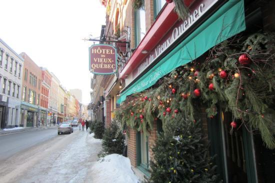Hotel du Vieux-Quebec : Facade de l'hôtel