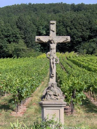Reichsfeld, France: Crucifix in Vineyards to bring crop blessing