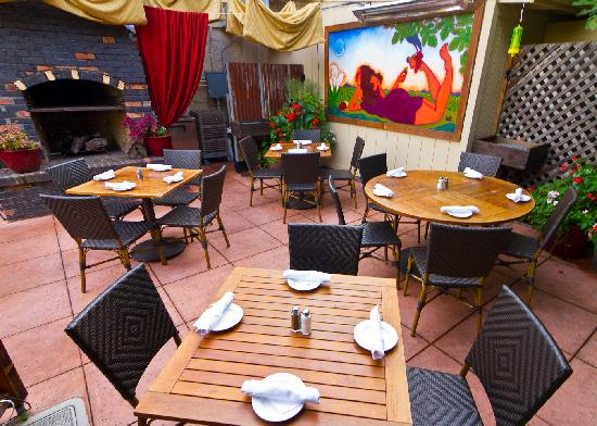 the girl & the fig: patio