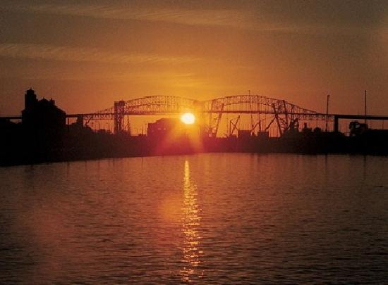 Sault Ste. Marie, MI: International Bridge Sunset
