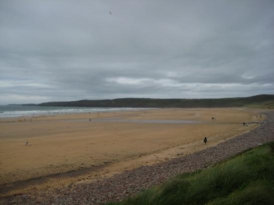 Freshwater West - August 2011 - Cold, wet, windy.... Surfers paradise!! Visitors from Sheffield