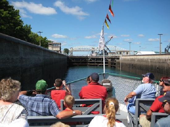 Sault Ste. Marie, MI: Aboard the Soo Locks Boat Tour  in the Locks