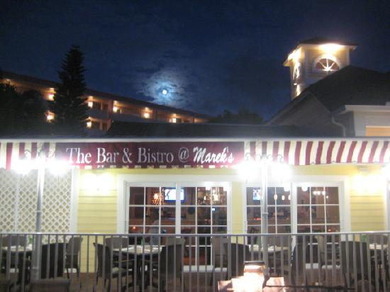 Marek's Collier House Restaurant: The Bar and Bistro @ Marek's outside Terrace