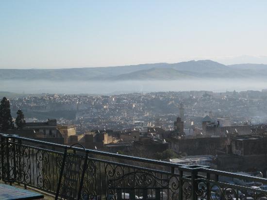 Ryad Mabrouka: vue de la terrasse