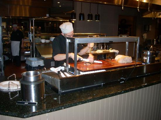 The carving station at miller s always has prime rib of