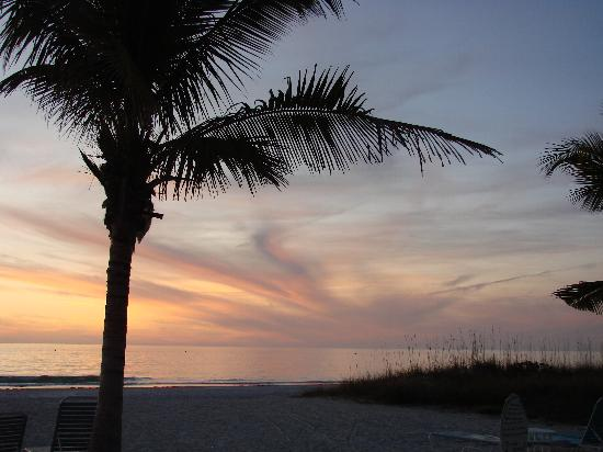 Cedar Cove Resort & Cottages: Sunset over the Gulf of Mexico, a nightly ritual ...