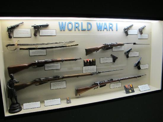 Berman Museum of World History: WWI Weapons Display