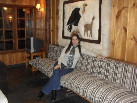 Hotel Posada de Farellones: Me at Posada farellones