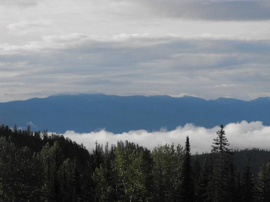 Whitefish Mountain Resort Lodging: view from our unit at Whitefish Mountain Resort