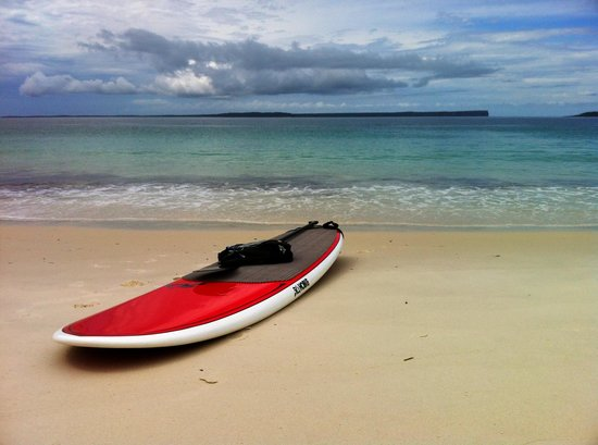 Jervis Bay Stand Up Paddle: The Hobie ready to launch