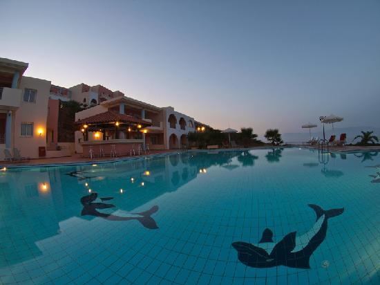 Sunset at Balos Beach Hotel