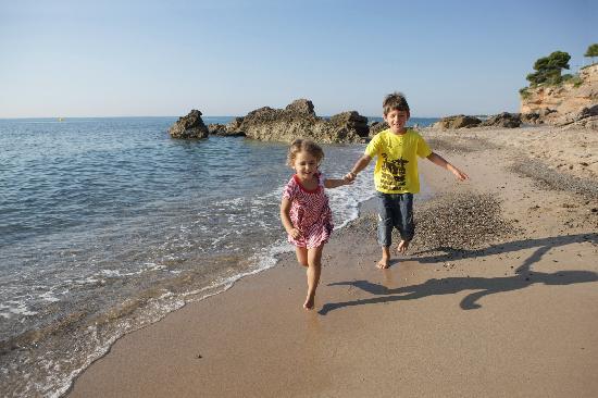 Costa Dorada, España: Disfrutando de la playa